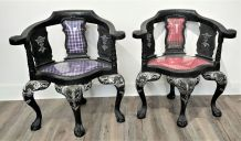 Paire de fauteuil  de style  iconoclaste