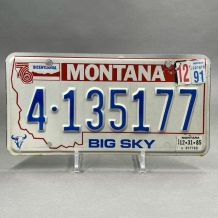 Authentique plaque d'immatriculation Montana