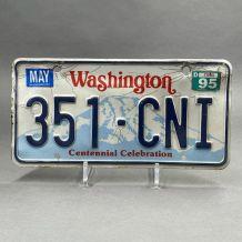 ancienne plaque d'immatriculation Washington