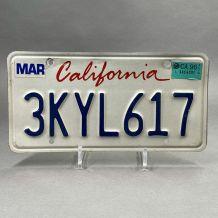 Plaque d'immatriculation USA Californie