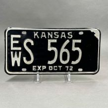 Plaque d'immatriculation USA Kansas