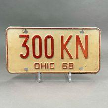 Plaque d'immatriculation USA Ohio