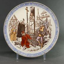 Assiette Creil et Montereau Jeanne d'Arc n12