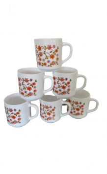 Set de 6 mugs / tasses Arcopal collection Scania vintage