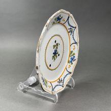Assiette faience Nevers XVIIIème siècle