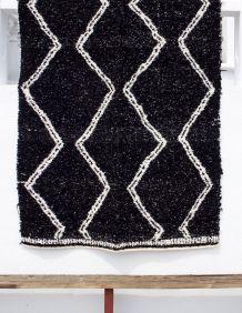 Tapis 170 x 240 cm - Noir & blanc - Reversible