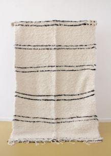 Tapis 140 x 200 cm - Blanc et noir
