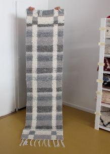 Tapis 65 x 240 cm - Gris et blanc