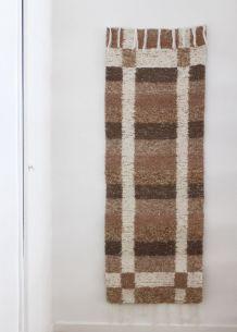 Tapis 60 x 160 cm - Moka et blanc - Reversible