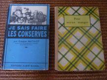 2 anciens livres de cuisine 1935 et 1948