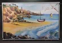 Affiche scolaire La plage, la salle à manger, Ogé