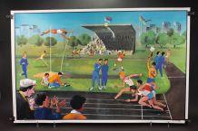 Affiche scolaire le stade – La ménagerie