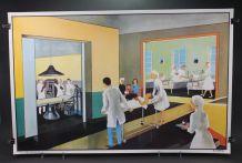 Affiche scolaire l'hôpital – L'été