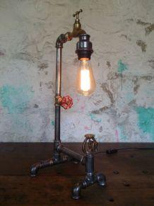 LAMPE STYLE INDUSTRIEL -  STEAMPUNK