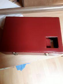 Trousse toilette vintage en cuir