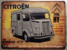 Plaque métal Citroën HY