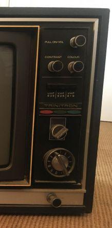1er Moniteur TV couleur vintage Sony Collector 1971
