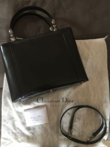 Sac Christian Dior Malice Cabas Cuir Noir Grand Modèle