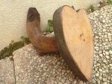 patère en bois sur ecusson,vintage