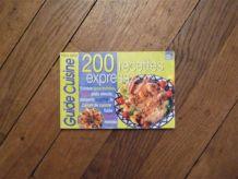 200 Recettes Express- Guide Cuisine Hors Serie N°6- Prisma