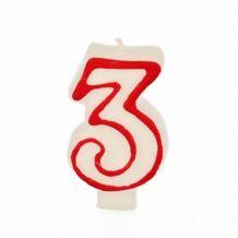 Bougies-chiffre colorées de 1 à 8 , nouvelles