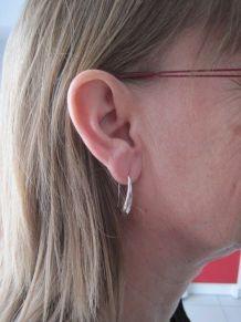 Boucles oreilles forme goutte argent 925