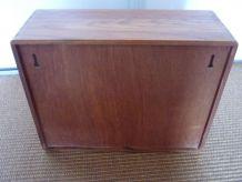 petite étagère en teck années 60/70 à casiers