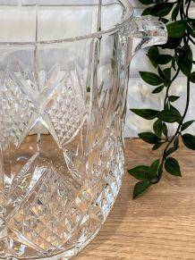 Seau à champagne en cristal
