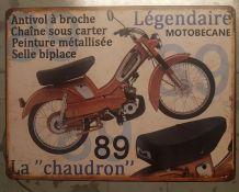 Plaque métal Motobecane AV89