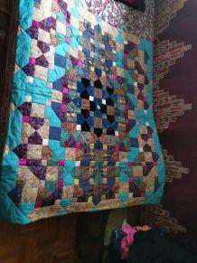 Plaid patchwork  fait main