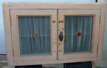 Meuble 2 portes vitrées vintage années 40/50