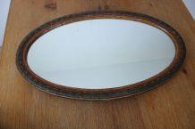 Authentique miroir ovale années 40/50.