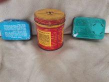 Lot ancienne petite boîte en métal vintage retro