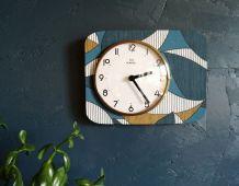 """Horloge vintage pendule murale silencieuse """"Romatic"""""""