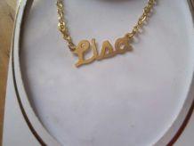 collier prénom LISA