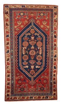 Tapis ancien Persan Shiraz fait main, 1B223