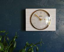 """Horloge formica vintage pendule murale silencieuse """"Kiplé"""""""