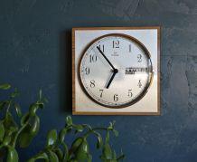 """Horloge formica vintage pendule murale """"Romatic argent"""""""