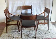 Série de 4 chaises en palissandre par Vestervig Eriksen (DK)