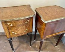 Paire de petits meubles