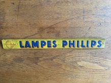 ANCIENNE PLAQUE EN TÔLE PUBLICITAIRE LAMPES PHILIPS VINTAGE