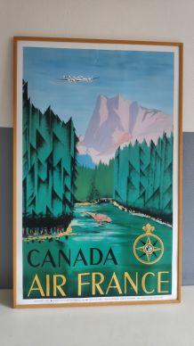 affiche publicitaire Air France - Canada