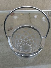 Sceaux à glaçons en verre Vintage