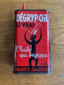 ANCIENNE BURETTE BIDON D'HUILE DEGRYP-OIL