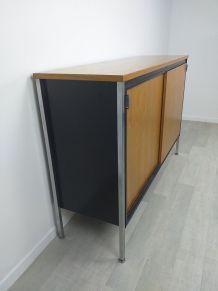 Buffet armoire de rangement design moderniste années 70 vint