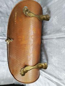 Porte bûches cuivre et laiton