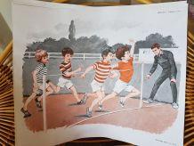3 belles affiches d'école ancienne vintage