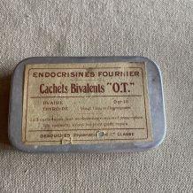 "Ancienne boîte glandes ""ENDOCRISINES"" laboratoire Fournier"