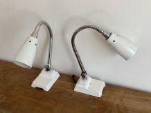 Paire de lampes d'atelier articulée KI-E-KLAIR. 1950