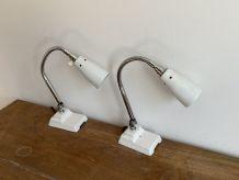 Lot de 2 lampes d'atelier articulée KI-E-KLAIR. 1950